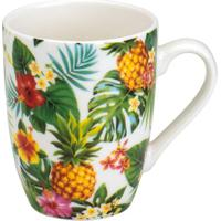 Caneca Pineapple Party- Branca & Verde- 330Ml- Rrojemac