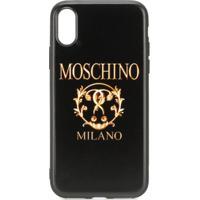 Moschino Capa Para Iphone Xs/X Roman Com Logo - Preto