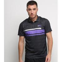 Camisa Polo Nike Court Advantage Ny Masculina - Masculino-Preto
