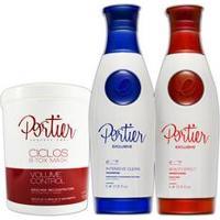 Portier Exclusive Kit De Alinhamento Capilar + Máscara Hidratante Reconstrutora Bbtox - 1Kg