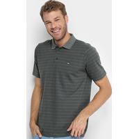 Camisa Polo Quiksilver Herron Masculina - Masculino-Musgo