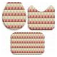 Jogo Tapetes Para Banheiro Abstrato Triângulares Único 40X60