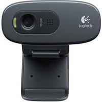 Câmera Webcam Para Windows Com Microfone Integrado Preto E Cinza - Logitech - C270