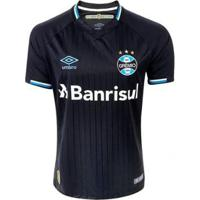 Camisa Umbro Masculina Grêmio Oficial 3 2018 C/Nº 10 - Masculino