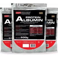 Kit 3X Albumina Protein 500G - Bodybuilders.