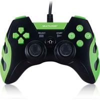 Controle Gamer Ps3/Pc Preto/Verde Multilaser - Js091 Js091