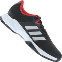 84ca389df02 Tênis Adidas Barricade Court 3 - Masculino - Preto Vermelho