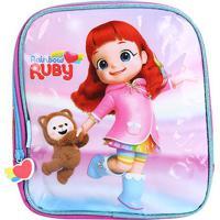 Lancheira Escolar Infantil Pacific Estampa Rainbow Ruby Feminina - Feminino-Rosa