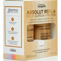 Kit L'Oréal Professionnel Shampoo+Máscara Absolut Repair Gold Quinoa - Feminino-Incolor