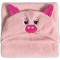 Manta Porquinha Com Capuz- Rosa Claro & Pink- 90X90Cbuettner