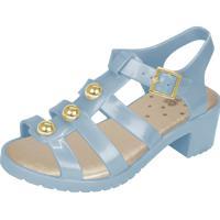 Sandália Flib Infantil Aranha Pérolas Salto Plástico Azul
