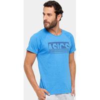 Camiseta Asics Training Graphic Ss Masculina - Masculino-Azul