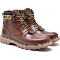 Bota Caterpillar Second Shift Boot Masculino - Masculino-Marrom