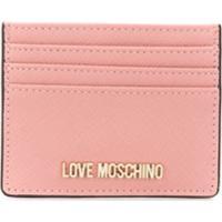 Love Moschino Logo Cardholder Wallet - Rosa