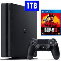 Console Playstation 4 Slim Sony Com Jogo Red Dead Redemption 2 - Unissex