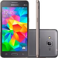 "Smartphone Samsung Galaxy Gran Prime G531M/Ds - Cinza - Dual-Chip - 8Gb - Câmera 8Mp - Tela 5"" - Android 5.1"