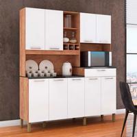 Cozinha Compacta Merlot Prime 9 Pt 1 Gv Castanho E Branco