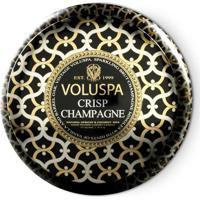 Vela Crisp Champagne Coleção Maison Noir 2 Pavios Lata 50 Horas Voluspa