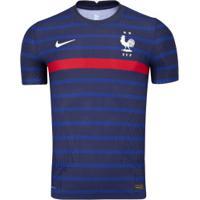 Camisa Seleção Da França I 20/21 Nike - Jogador - Azul Esc/Branco