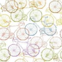 Papel De Parede Adesivo Bicicletas Coloridas