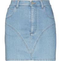 Alessandra Rich Minissaia Jeans Slim - Azul