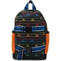 Stella Mccartney Kids Logo Print Backpack - Preto