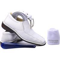 e3cd7db19ccf8 ... Kit Masculino Sapato+Cinto+Meia+Calçadeira Doctor Shoes - Masculino -Branco