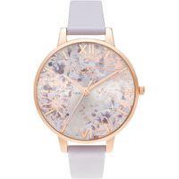 Relógio Olivia Burton Feminino Couro Violeta - Ob16Vm45