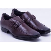 Sapato Social Couro Pegada Fivela Masculino - Masculino