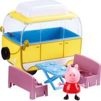 Veículo E Mini Figura - Peppa Pig - Trailer Da Peppa - Dtc