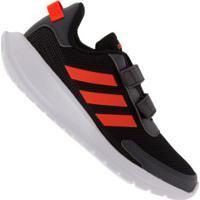 Tênis Adidas Tensaur Run - Infantil - Preto/Laranja