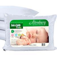 Travesseiro Infantil Para Bebê Altenburg Branco