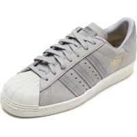 fa89ca94f8f Tênis Couro Adidas Originals Superstar 80S Cinza