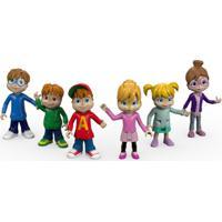 Conjunto 6 Mini Figuras - Alvin E Os Esquilinhos E As Esquiletes - Fisher-Price - Unissex-Incolor