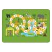 Tapete De Atividades Infantil Tabuleiro Zoo Único 90X125