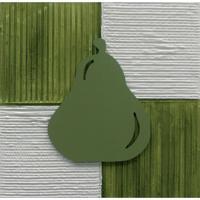 Quadro Artesanal Com Aplique Pera 30X30 Verde Uniart
