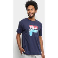 Camiseta Fila Sport Masculina - Masculino-Marinho