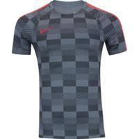 Camiseta Nike Dry Squad Ss Gx - Masculina - Cinza/Cinza Esc