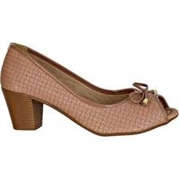 Sapato Fem Peeptoe Napa Trancada Di Santinni 69605024