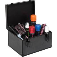 Maleta Para Maquiagem E Cabelos Vertix Alumínio - Unissex-Preto