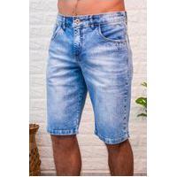 Bermuda Jeans Masculina Arauto Modelagem Confort Jeans Delave