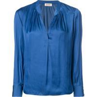 Zadig&Voltaire Blusa 'Tink' - Azul