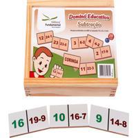 Dominó Educativo Subtração Jogo Com 28 Peças - Fundamental
