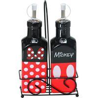 Galheteiro Mickeyâ® Parts- Preto & Vermelho- 2Pã§Smabruk