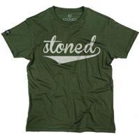 Camiseta Stoned Classic Masculina - Masculino-Verde