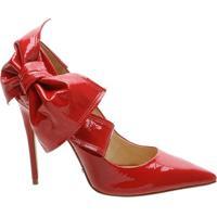 Scarpin Verniz Big Bow Tango Red | Schutz