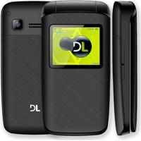 Celular Dl Flip Dual Chip Com Câmera Digital Yc-330 Preto