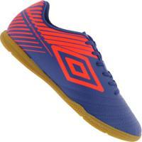 Chuteira Futsal Umbro Striker V Ic - Adulto - Azul/Laranja