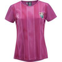 Camiseta Do Fluminense Outubro Rosa 19 - Feminina - Rosa