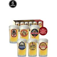 Conjunto Copos Beer Glass Caldereta 6Pçs Happy Hour 340Ml Branco